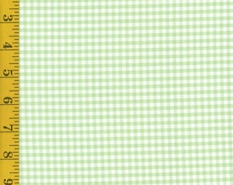 Green Gingham Cotton Fabric by the Yard - Modern Plaids: Celadon/White from In The Beginning Fabrics