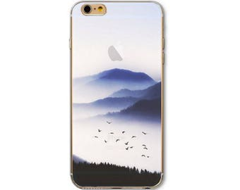 Soft TPU Scenic Mountain and Birds iPhone 7 Case
