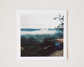 Lacoste Fog, Provence, France, Square Print