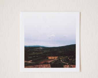 Lacoste Valley, Provence, France, Square Print