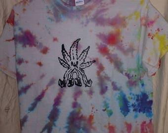 Leaf guy (M) multi color tie dye tshirts