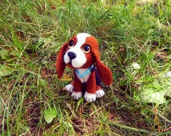 Felt dog Beagle Needle felted dog Beagle portrait needle felted animails dog lover gifts Toy Gift Puppy toys dog sculpture Felted miniature