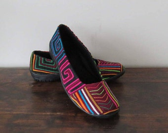 Womens Ballet Flats Size 36, Womens Slip On, Mola Shoes, Mola Flats, Ballet Flats, Vegan Shoes, Handmade Shoes, Colourful Shoes