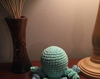 Crocheted Green Octopus