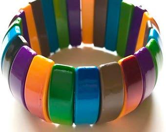 Vintage Chromotherapy Rainbow Bracelet
