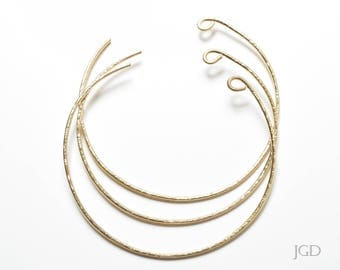 Wire Neck Cuff, 14 in. Bronze, Handmade, Jewelry Crafts, DIY