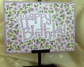 Happy Birthday - Handcrafted Greeting Card w/verse - Birthday Card - W/Heartfelt Messages