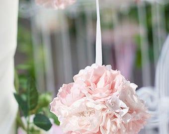 "5 1/2"" Blush Pink Flower Kissing Ball - by Lillian Rose"