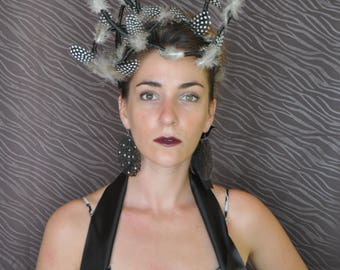Headband couture black and white