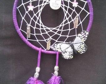 purple butterfly dream catcher