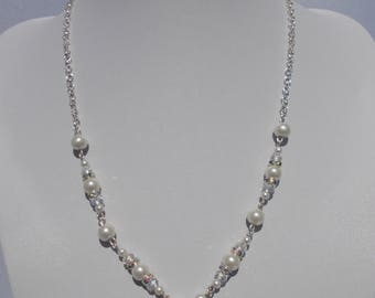 Stunning White Pearl Necklace