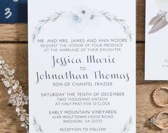 Floral Wedding Invitation - Digital File Only