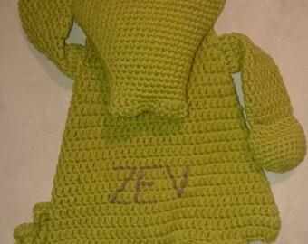 Crochet rag doll Crocodile