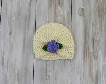 Baby Turban Flower Hat