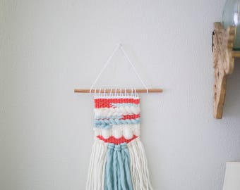 Mini wall hanging \\ Weave \\ mto \\ woven wall hanging \\ tapestry