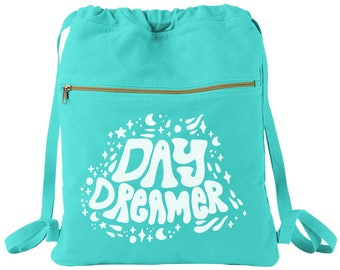 Day Dreamer Canvas Cinched Backpack, Pastel Grunge, Chill Shirt, Soft Grunge, Tumblr