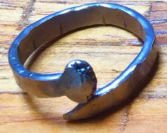 Hand Forged Nail Rings