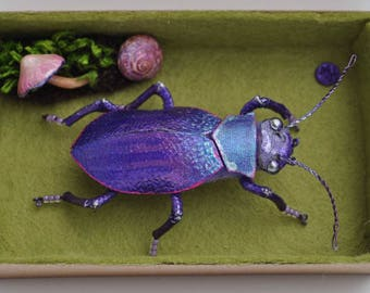 Beetle, Sculpture, Textile Art, Collectable