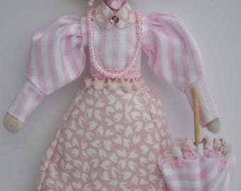 Doll Small Ornamental Textile Art Collectable