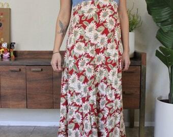 90's Vintage Floral Summer Dress