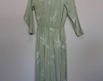 Classy Vintage Satin/Silk Long Dress