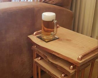 Handmade Copper leg nest of tables