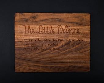 The Little Prince  Chopping Block  Engraved Cutting Board Bamboo Cutting Board Custom Wedding Gift Personalized Cutting Board