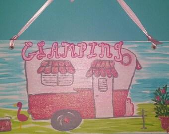Glamping, Camping Sign,