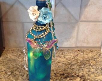 Custom lighted bottle