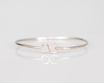 Silver Hook and Eye Bracelet