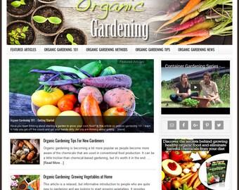 Premade Website | Website Template | Turnkey Website | Blog Design | Website Design | Wordpress Website | Blog Theme | ORGANIC GARDENING
