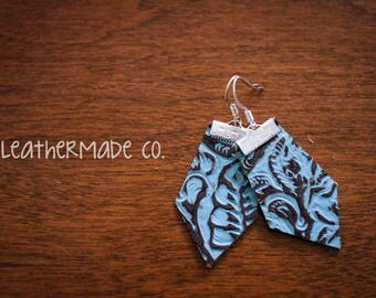the Elizabeth - Turquoise/Brown Print