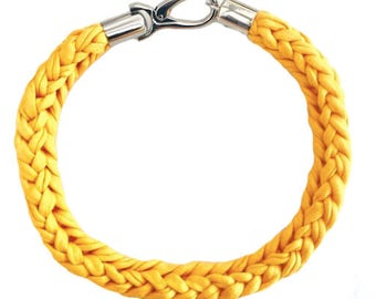 Amber Crocheted Necklace