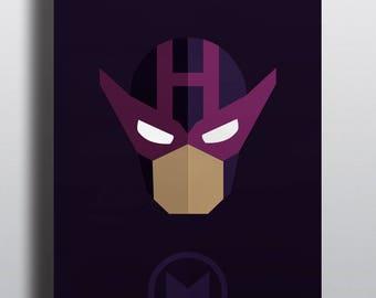 Hawkeye Digital Art Poster, Marvel  Decor, Avengers Poster, Superhero Gift, Hawkeye Print, Hawkeye, Clint Barton