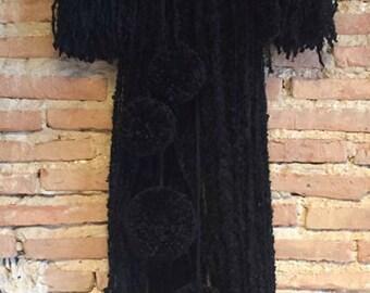 HANGING Black Pompom
