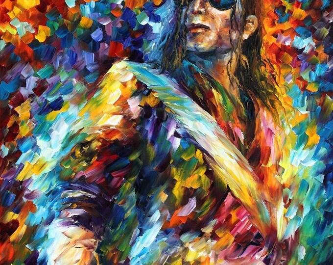 Framed Michael Jackson Print 11x17 Black Slim