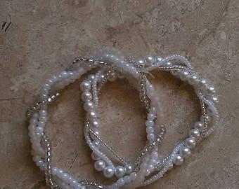 White Pearl, Twisted Bracelet