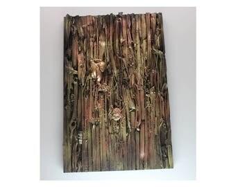 Wood Art 4 - Gold/Brown