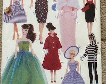 Vogue Craft Pattern 9686-Retro Barbie Fashion Doll Patterns-OOP, New and Uncut-1997