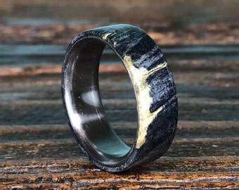 Titanium Ring, Wood Ring, Wooden Ring, Titanium Wood Ring, Wedding Ring, Black Ring, Mens Ring, Womens Ring, Promise Ring, Anniversary Ring