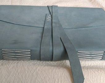 Handbound Leather Journal or Sketchbook - blue leather