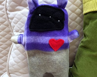 Giles ~ The Bunny Bummlie ~ Stuffing Free Dog Toy ~ Ready To Ship Today