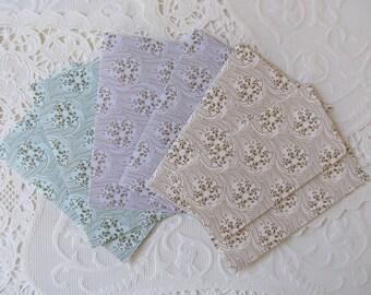 Decorative Mini Envelopes Flourish Pattern Set of 6