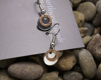 Copper and aluminum earrings surgical steel ear wires