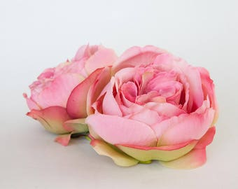 Large Fully Bloomed Stunning English Rose in Pink - Artificial Flowers - ITEM 01110