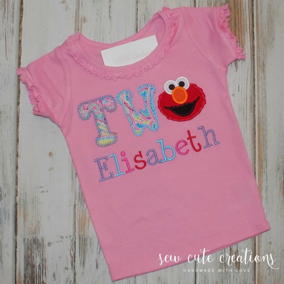 Elmo Birthday Shirt 2nd Ruffle