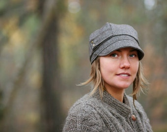 Womens Hat Mamie hat  Wool Blend Winter Hat Gifts For Her Tweed Newsboy Cap