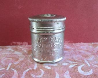 Vintage Colgate & Co. Shaving Stick Tin Container