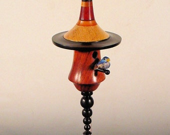 Miniature Bird House Turned From Exotic Woods No. 137 by Bryan Nelson