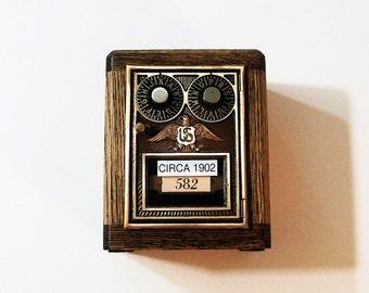 Post Office Box 1902 Dual Dial Door Bank Safe Antique Door